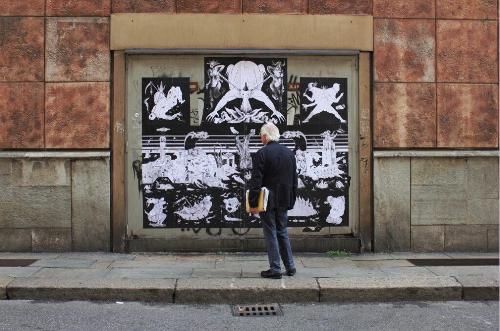 Dal 2011 i Guerilla Spam realizzano sui muri in Italia e all'estero, lavori che hanno al centro tematiche sociali (©️Guerrilla Spam)